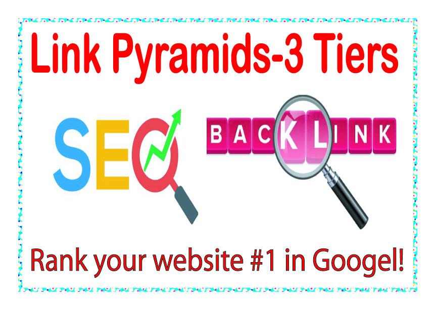 Best Link Pyramids 3 Tiers of backlinks-edu-Wiki articles Backlinks-Social networks profiles