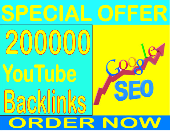 Super Powerful SEO- 200,000 YouTube Backlinks and Embeds,  Organic Video increase your ranking in Google search results