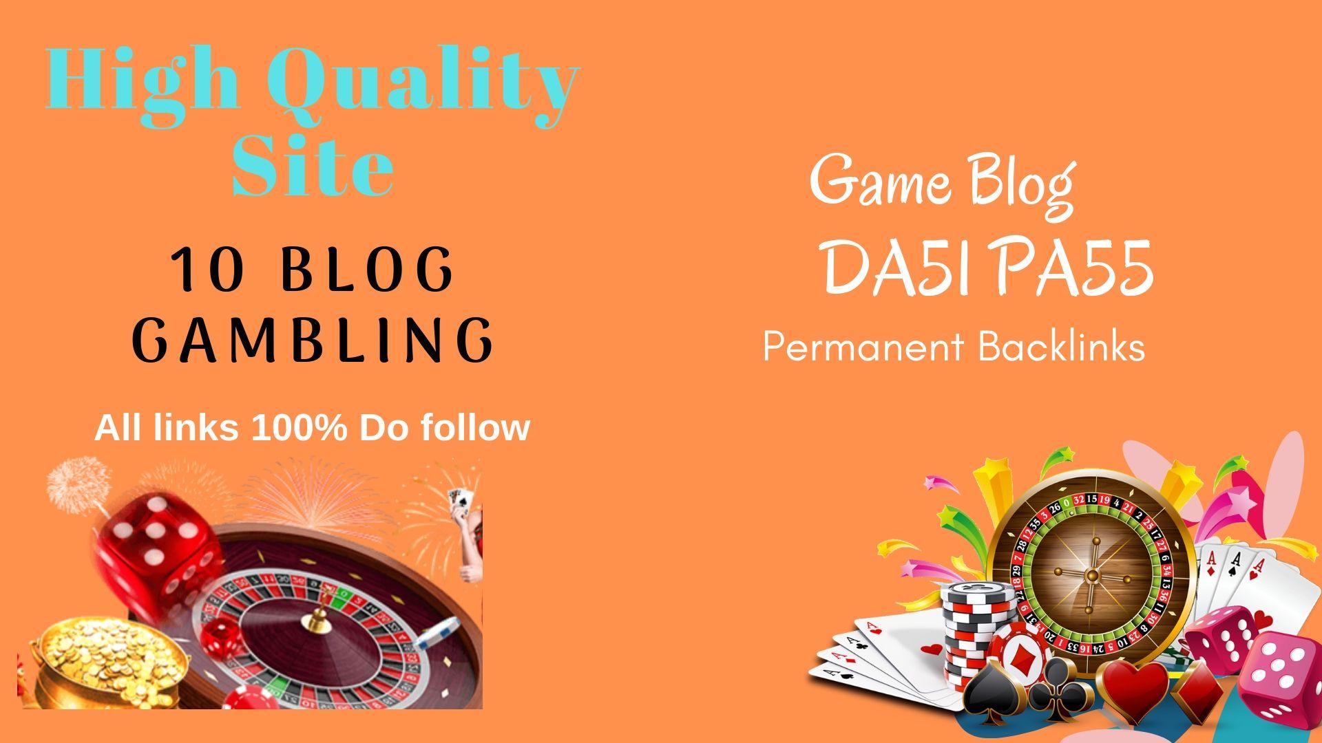 Permanent blogroll 10 Blog Casino GAmbling DA 51/ PA 55