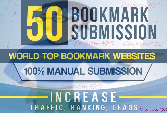 manually 30+ bookmark submission backlinks, high pa da
