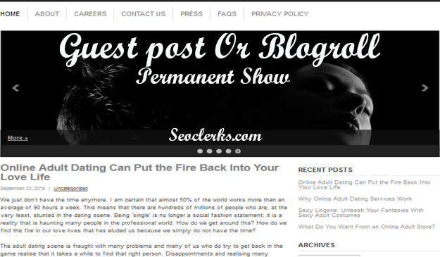 Give Link DA53 Online Adult Backlinks Guest post or Blogroll Permanent