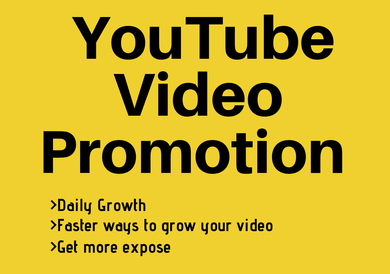 YouTube Video Promotion to Millions of Audience