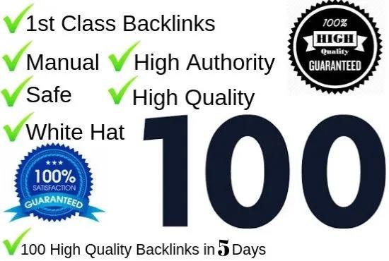 High Powerful 100 Backlinks 50 PR-9, 20 EDU/GOV and 30 Bookmarks DA 80-100.