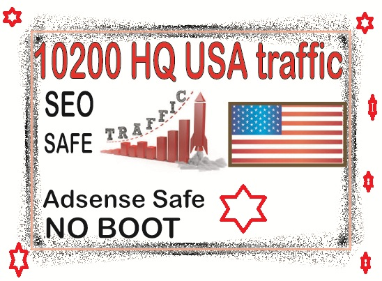 Do 10200 USA Safe Real Visitors from social & organic Web Visitors from main search engines