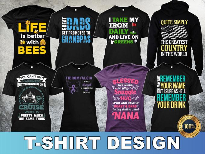 Do Make Creative Viral Tshirt Design Or Realistic Mockup