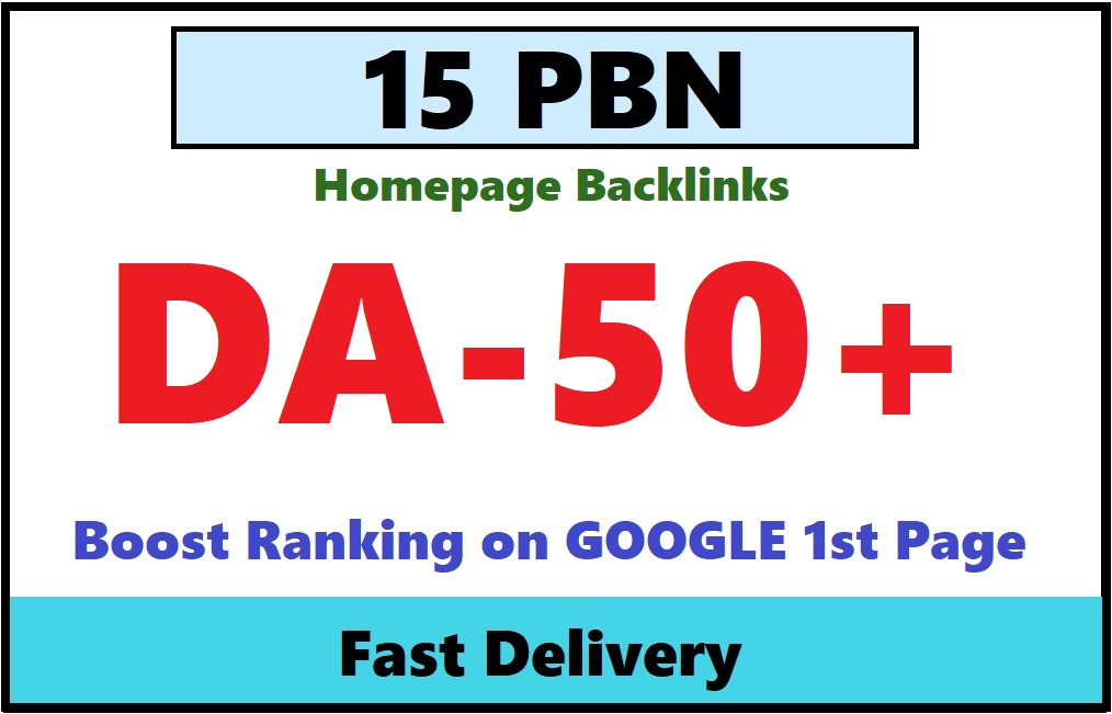 Provide you 15 PBN links From 30 to 50+ DA PA sites