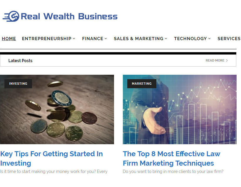 Publish High Quality article on RealWealthBusiness. com DA 50 Dofollow