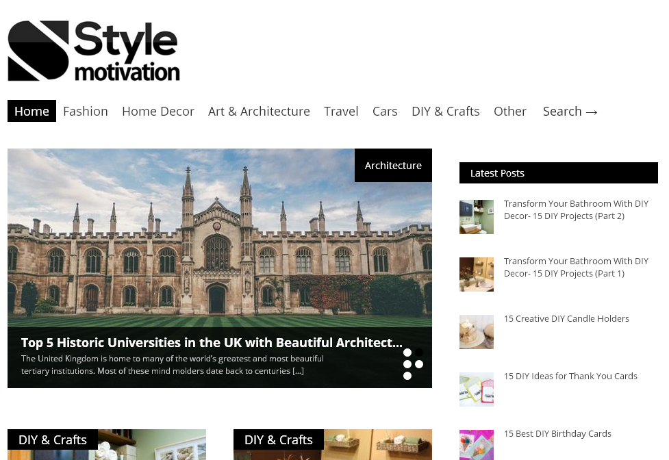 Place a permanent & Indexed article on Stylemotivation. com DA-60