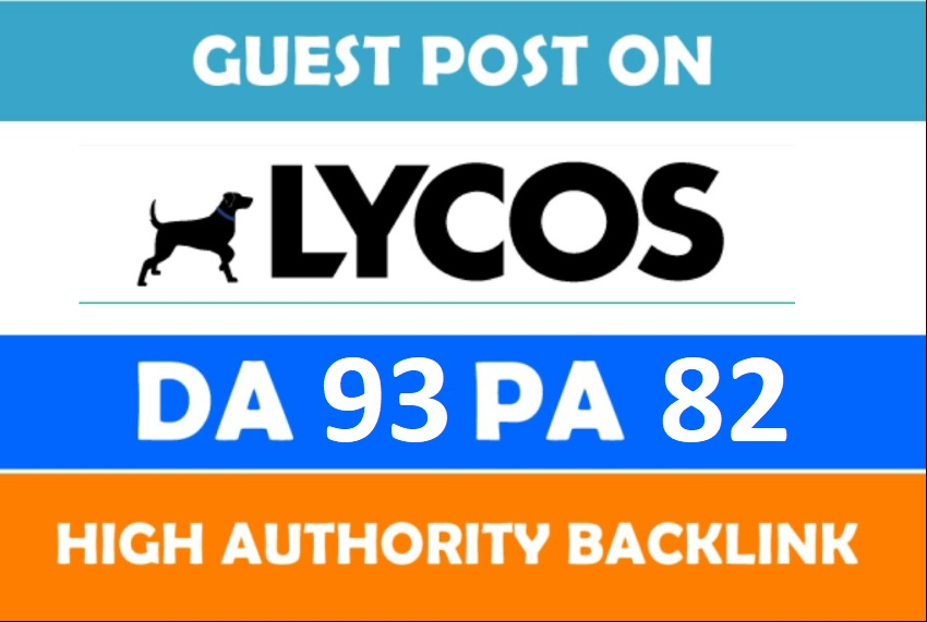 Write and publish Guest Post on Lycos - Lycos. com DA93