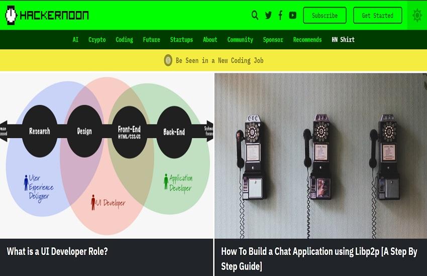 Publish a guest post on Hackernoon. com DA 85
