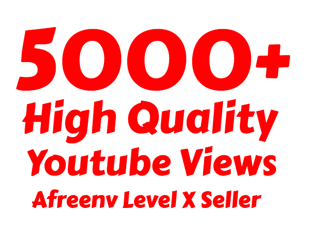 i will add 5000  High Quality Youtube view