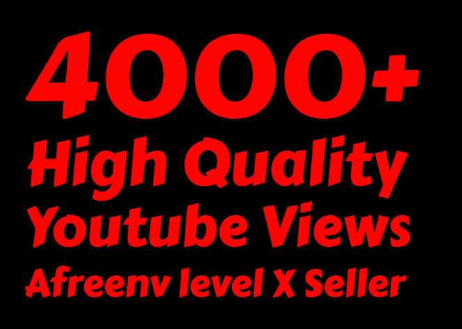i will add 4000 to 4500+ Youtube views