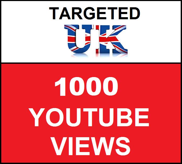 Added 1,000 UK Geo Targeted youtube video boosting