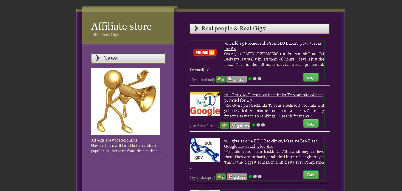 Mini Store Page for Monster Backlinks Affiliate