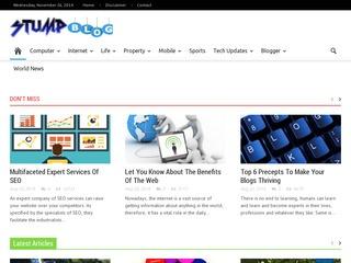 Guest Post on Stumpblog PR 4 DA 43 Website Today Sponsored Blog Review