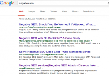 Purchasing Negative SEO attack and Deindex from Google