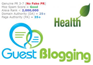 Guest Posting on Health Website s PR2-PR7