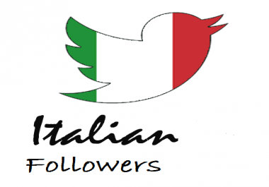 I have need 500+real & active Italian twitter Follower.