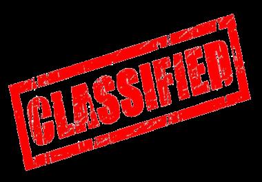 I need 500 usa classified posts