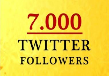i need 7000 twitter mixed followers