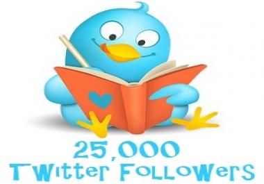 25k twitter followers