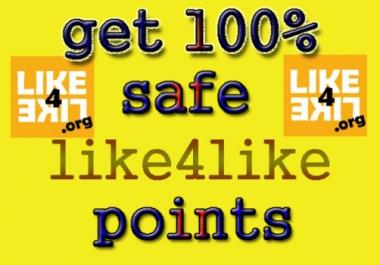 5K like4like Points in 1 account