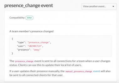 Slack users presence monitor