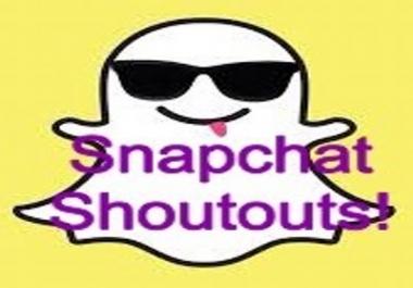 Need Snapchat shoutouts