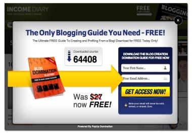 Need an Popup code for wordpress blog