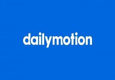 100 Dailymotion Followers