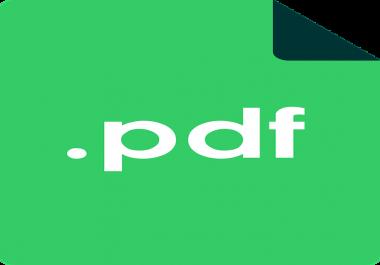 graphics designer for pdf document around 30 pages