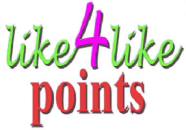 4000 Like4Like points