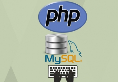 Php and sql script for database