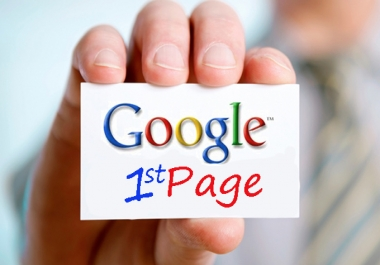 Put website on google's first page
