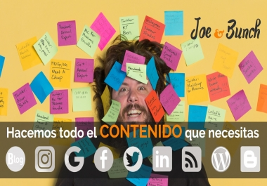 Marketing Blog Needs Articles in SPANISH content.
