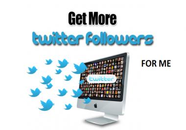 Add 100K Real Human Twitter Followes
