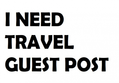 I need guest post on travel sites