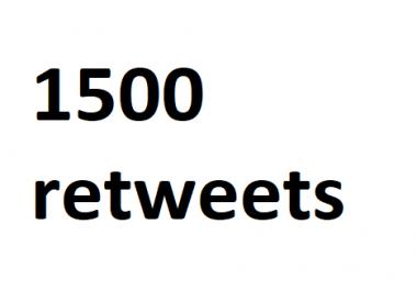 1500 instant retweets