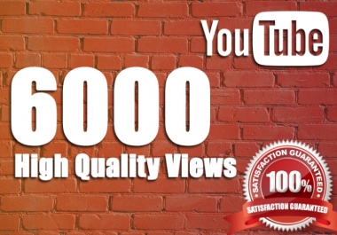 I WILL GIVE YOU A 6000 YOU. TUBE HIGH RETENTION VIEWS / 12 HRS. DELIVERY