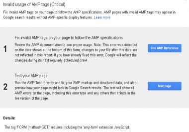 html,  and amp errors