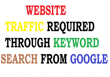 Need Google Search Keyword Based Traffic