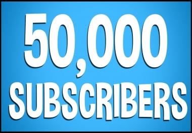 50.000 You Tube Subscribers