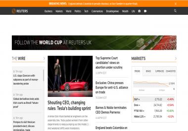 Write & publish Press Release on Reuters. com