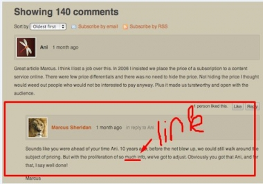 10 forum comments with my link