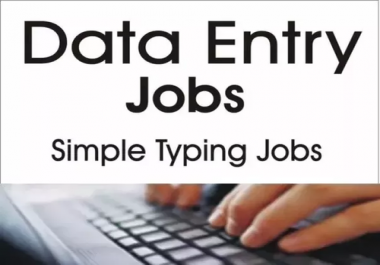 data entry jobs we need some Expert freelancer from online