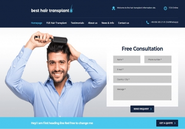 1 Permanant Hair Transplant Web Site High DA 31+ Dofollow PBN Link