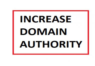 Increase domain authority DA to 40+