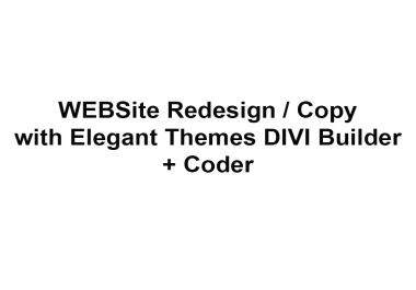 Website Redesign with DIVI Elegant Themes