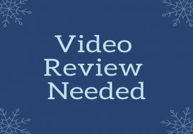 Video Testimonial for my website