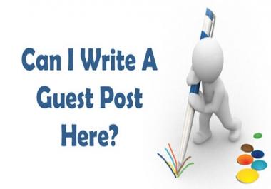 Need blogs for Guestpostings